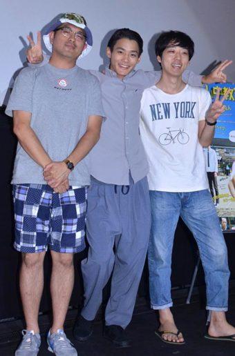 トークショーに出席した(左から)豊島圭介監督、野村周平、真造圭伍氏