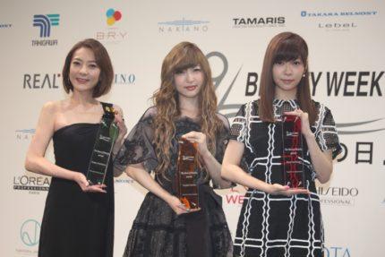 (左から)西川史子、神田沙也加、指原莉乃