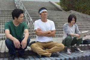 「ヤッさん 築地発!おいしい事件簿」(左から)柄本佑、伊原剛志、山本舞香