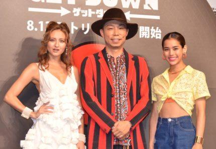 (左から)エリーローズ、EXILE USA、佐原モニカ