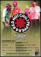 『RED HOT CHILI PEPPERS UK Tour』告知画像 (okmusic UP's)