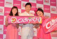 発表会に出席した(左から)にしおかすみこ、玉木宏、バービー