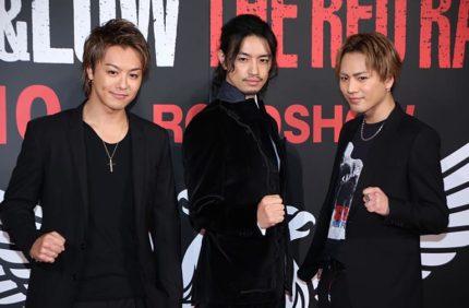 (左から)TAKAHIRO、斎藤工、登坂広臣