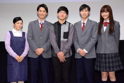 (左から)濱田マリ、堀井新太、佐藤考樹、戸塚純貴、松井愛莉