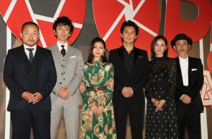 (左から)大根仁監督、滝藤賢一、二階堂ふみ、福山雅治、吉田羊、リリー・フランキー