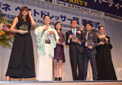 (左から)西内まりや、春風亭昇太、広末涼子、河野太郎衆議院議員、及川光博、河北麻友子