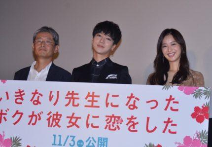 (左から)朝原雄三監督、イェソン、佐々木希
