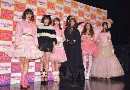 (左から)emma、玉城ティナ、トリンドル玲奈、マギー、河北麻友子、八木アリサ