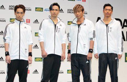 (左から)EXILE TETSUYA、橘ケンチ、黒木啓司、EXILE AKIRA