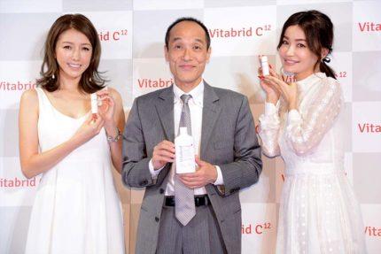 (左から)美香、東国原英夫、平子理沙