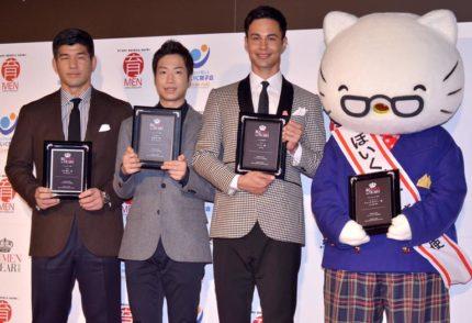 (左から)井上康生氏、水谷隼選手、ユージ、ジョージ・ホワイト