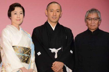 (左から)寺島しのぶ、市川海老蔵、三池崇史監督
