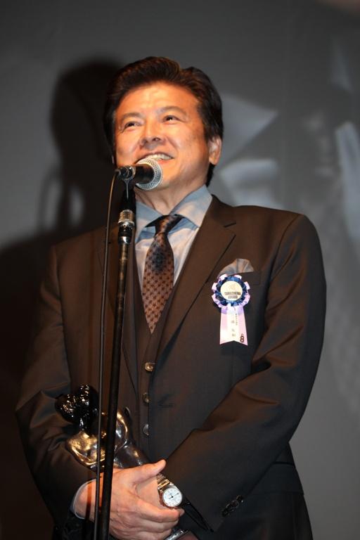 最優秀男優賞を受賞した三浦友和
