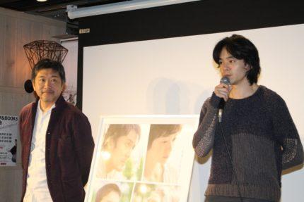 トークショーを行った是枝裕和監督(左)と池松壮亮