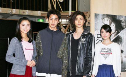 (左から)木下晴香、大野拓朗、古川雄大、生田絵梨花