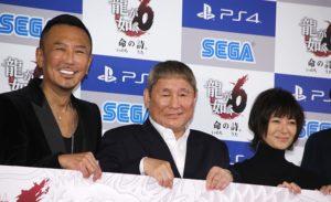 (左から)名越稔洋総合監督、ビートたけし、真木よう子