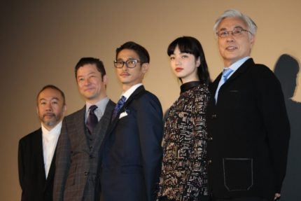 (左から)塚本晋也、浅野忠信、窪塚洋介、小松菜奈、イッセー尾形