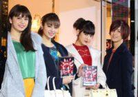 (左から)佐藤晴美、楓、藤井夏恋、藤井萩花
