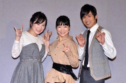 (左から)惡斗、イモトアヤコ、高橋光臣