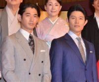 大久保利通と西郷隆盛を演じる瑛太(左)と鈴木亮平