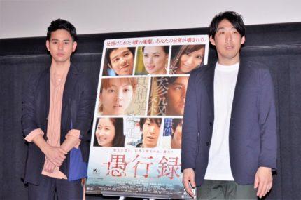 ティーチ・インを行った妻夫木聡(左)と石川慶監督