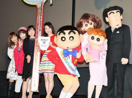 (左から)こおろぎさとみ、ならはしみき、矢島晶子、志田未来