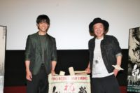 合同取材会に登場した古田新太(左)と大東駿介