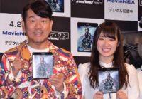 イベントに出席した、FUJIWARAの藤本敏史(左)と乃木坂46の高山一実