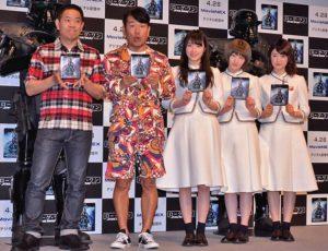 (左から)FUJIWARA、乃木坂46の高山一実、中田花奈、樋口日奈