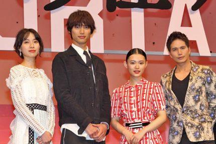 (左から)戸田恵梨香、福士蒼汰、杉咲花、市原隼人