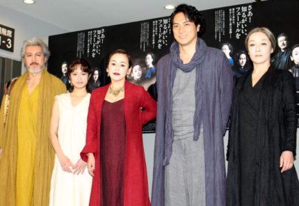 (左から)今井清隆、門脇麦、大竹しのぶ、平岳大、キムラ緑子