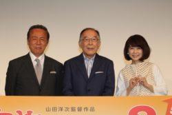 (左から)小林稔侍、橋爪功、風吹ジュン