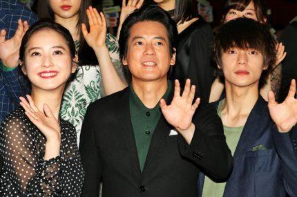 (左から)佐々木希、唐沢寿明、窪田正孝