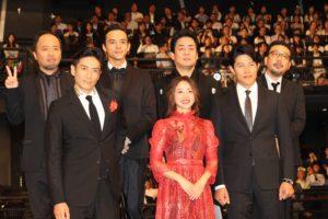 映画『忍びの国』のジャパンプレミア登壇者たち