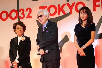 左から)倍賞千恵子、山田洋次監督、後藤久美子